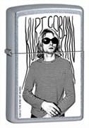 Широкая зажигалка Zippo Kurt Cobain 205