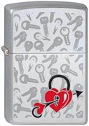 Широкая зажигалка Zippo Love Locked 205