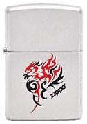 Широкая зажигалка Zippo Tribal Dragon 205