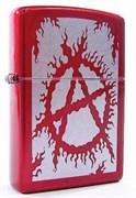 Широкая зажигалка Zippo Flaming Anarchy 21063