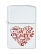 Широкая зажигалка Zippo Love heart 214
