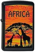 Широкая зажигалка Zippo Africa-G 218
