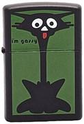 Широкая зажигалка Zippo Scaredy Cat 218