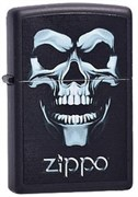 Широкая зажигалка Zippo Skull shadow 218
