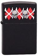 Широкая зажигалка Zippo Skulls&Bones 218