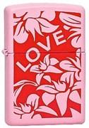 Широкая зажигалка Zippo Love & Flower 238