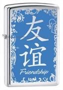 Широкая зажигалка Zippo Friendship 28065