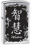 Широкая зажигалка Zippo Wisdom 28066