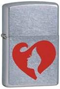Широкая зажигалка Zippo Woman heart  28697