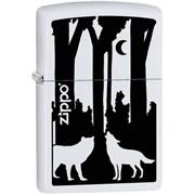 Широкая зажигалка Zippo Wolves 28766
