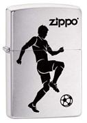 Широкая зажигалка Zippo Soccer Player 29201