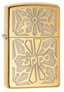 Широкая зажигалка Zippo Flower 28450