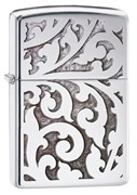 Широкая зажигалка Zippo High Polish Chrome Filigree 28530