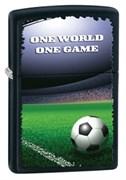 Широкая зажигалка Zippo One World One Game 28301