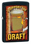 Широкая зажигалка Zippo Support The Draft 28294