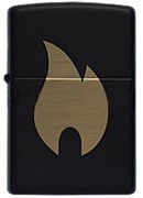 Широкая зажигалка Zippo Flame chromed 218