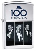 Широкая зажигалка Zippo Frank Sinatra 28960