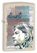 Широкая зажигалка Zippo Kurt Cobain 29051