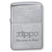 Широкая зажигалка Zippo Name in flame 200
