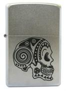 Широкая зажигалка Zippo Tattoo Skull 205
