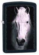 Широкая зажигалка Zippo WHITE HORSE 218