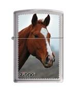 Широкая зажигалка Zippo HORSE HEAD 200