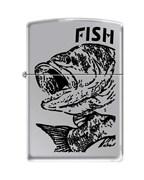 Широкая зажигалка Zippo FISH - BIG MOUTH 250