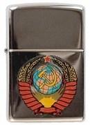 Широкая зажигалка Zippo Герб СССР 250