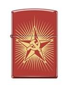 Широкая зажигалка Zippo Russian Hammer Sickle 233