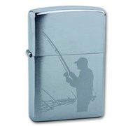 Широкая зажигалка Zippo Fisherman 200