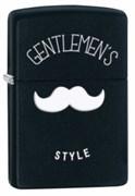 Широкая зажигалка Zippo Gentlemen's Style 28663
