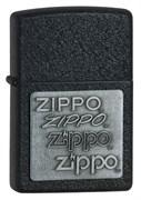 Широкая зажигалка Zippo Pewtter Black Crackle™ 363