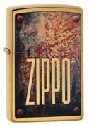 Зажигалка Zippo Rusty Plate с покрытием Brushed Brass, 29879