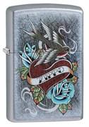 Зажигалка Zippo Vintage Tattoo с покрытием Street Chrome™, 29874