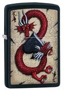 Зажигалка Zippo Dragon Ace с покрытием Black Matte, 29840