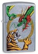 Зажигалка Zippo Dragon Design с покрытием Street Chrome™, 29837