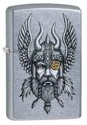 Зажигалка Zippo Viking Warrior с покрытием Street Chrome™, 29871