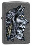 Зажигалка Zippo Wolf Skull с покрытием Iron Stone™, 29863
