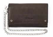 Бумажник байкера Zippo, кожаный, 2005129