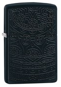 Зажигалка Zippo Tone on Tone Design с покрытием Black Matte 29989
