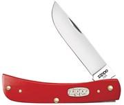 Нож перочинный Zippo Red Synthetic Smooth Sodbuster Jr 92 мм 50517