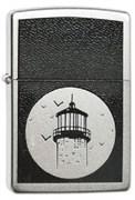 Широкая зажигалка Zippo Lighthouse 205