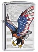 Широкая зажигалка Zippo Eagle flag 28449