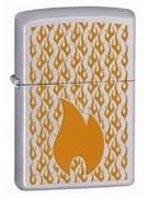 Широкая зажигалка Zippo Flames 24919