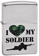 Широкая зажигалка Zippo My Soldier 285