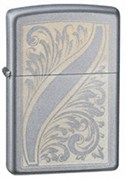 Широкая зажигалка Zippo Scrolled Feather 21139