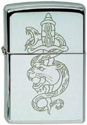 Широкая зажигалка Zippo Snake/lion 232