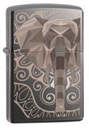 Зажигалка Zippo Elephant Fancy Fill Design с покрытием Black Ice® 49074
