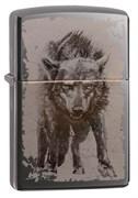 Зажигалка Zippo Wolf Design с покрытием Black Ice® 49073