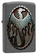Зажигалка Zippo Metal Dragon Shield Design с покрытием Iron Stone™ 49072